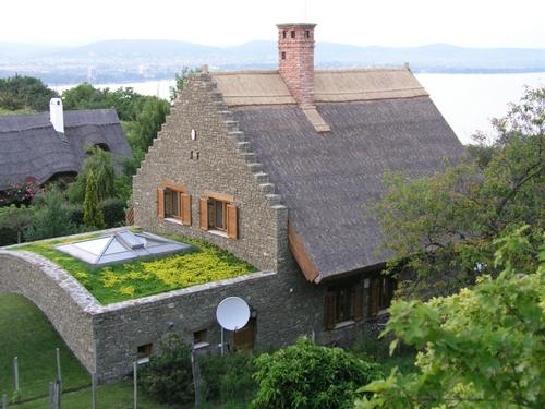 extensive green roof in hungary produkte f r dachbegr nung kunstrasen schwimmteichbau. Black Bedroom Furniture Sets. Home Design Ideas